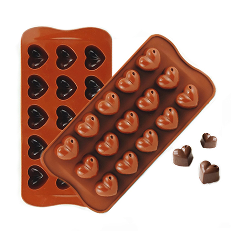 christmas gifts new arrival silicone heart chocolate molds jelly ice molds cake mould bake ware 301 0100