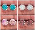 Orange Blue Pink White Fire Opal Silver Earrings Wholesale Retail Hot Sell For Women Jewelry Stud Earrings 9mm OH3060-63