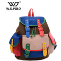 W.D POLO New color crash canvas women backpack chic design easy matching female backpacks girls travel bags necessary M1818