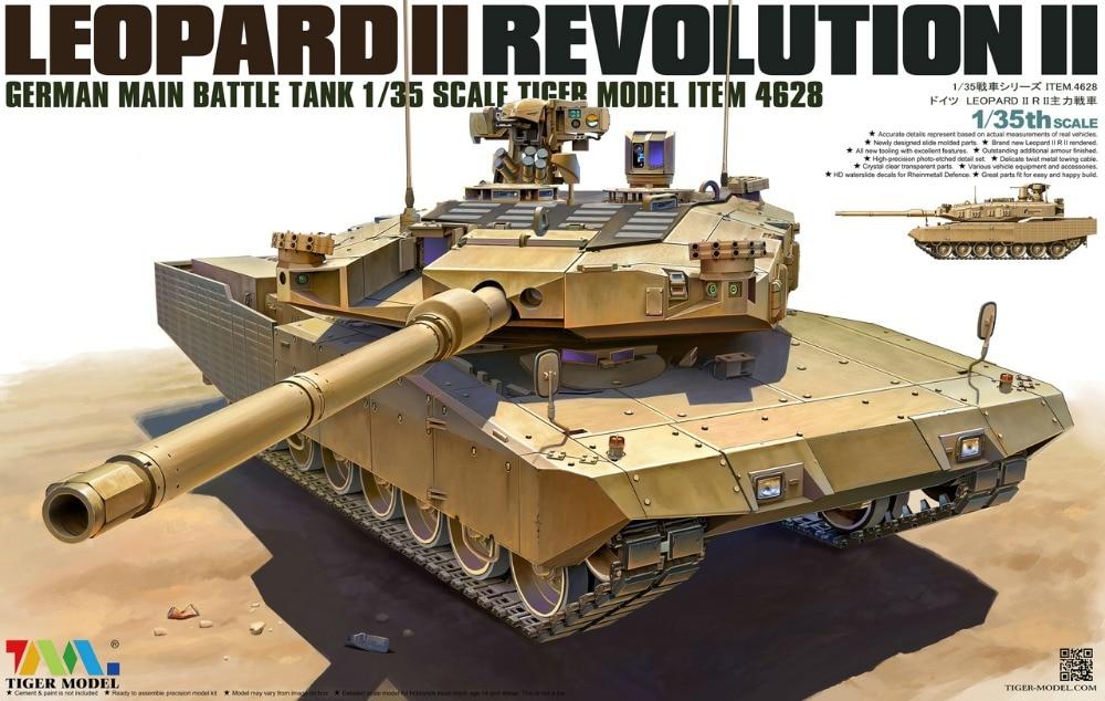 Tiger Model 1/35 4628 German MBT Leopard II Revolution-II realts tiger model 4604 1 35 french amx 30 b2 brennus mbt