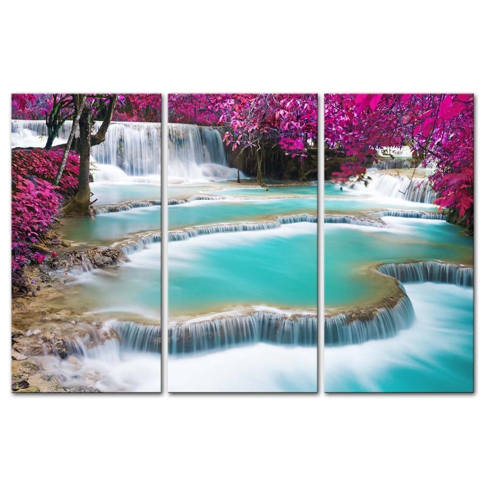 Direct Selling Unframed 3 Pieces Modern Wall Art Turquoise