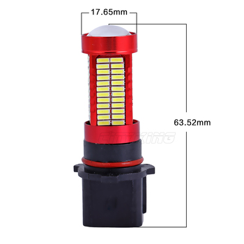 1 x White 106 SMD 4014 led H11 H4 H7 9005 9006 P13W led Car Fog Light Day Time Running Lamp Auto LED Day Light Automobiles 6