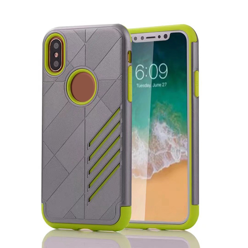 the best attitude 20c28 d87ae ANSHOW Hybrid Armor Ballistic Hard Plastic+Soft TPU Case For Iphone Iphone  X Galaxy Note 8 Rugged Shockproof Cover Skin 50PCS-in Fitted Cases from ...