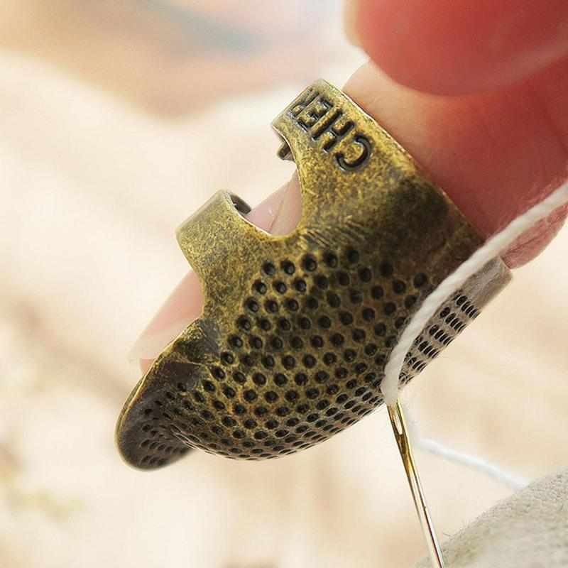 Sewing Tools Accessories Thimble Finger Protector Handworking Needlework Metal Brass Sewing Thimble Sewing Tools