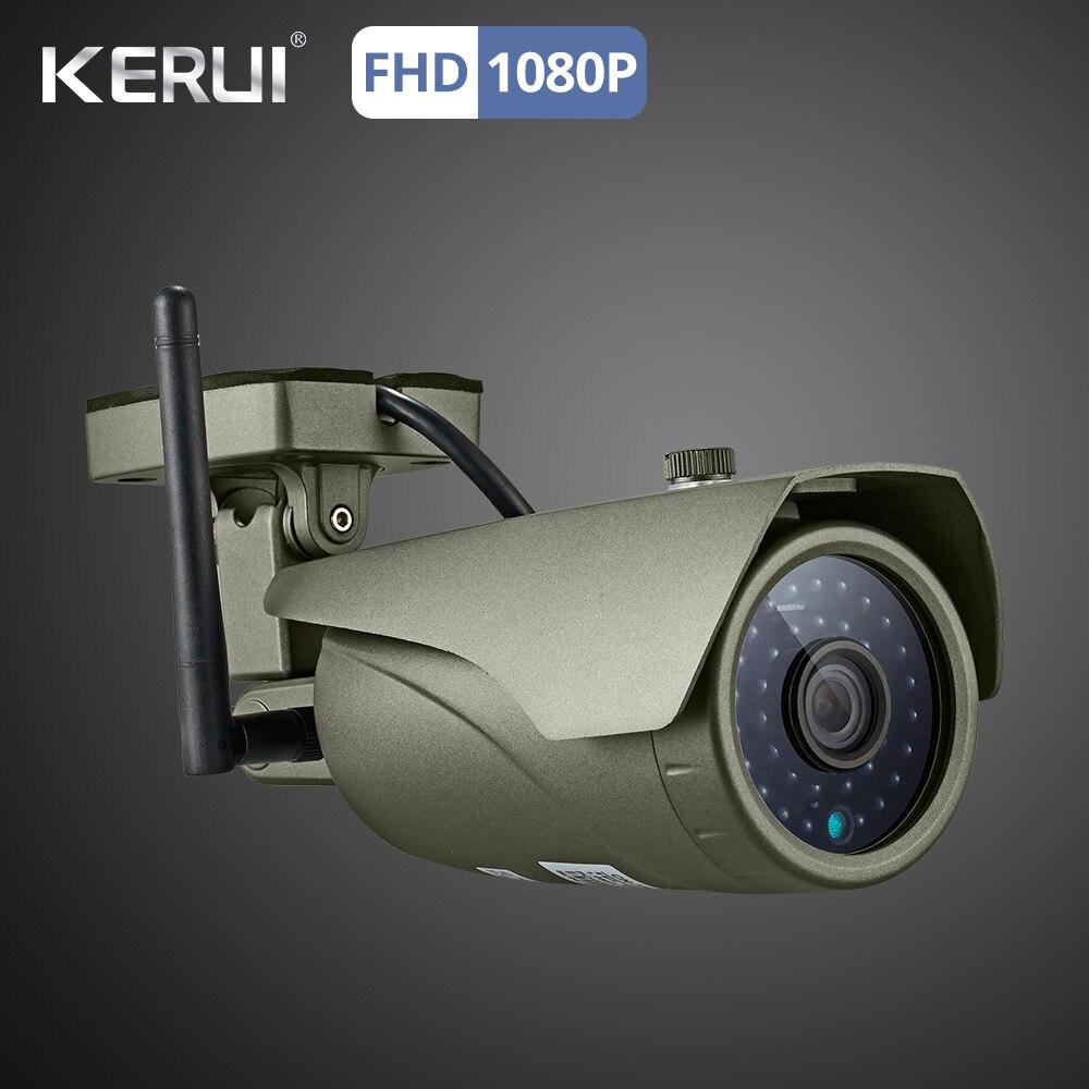 Kerui W18 WIFI GSM SMS App Control Burglar Home Alarm Touch Panel Home Security Alarm System 1080P Camera Wifi Solar Siren 1