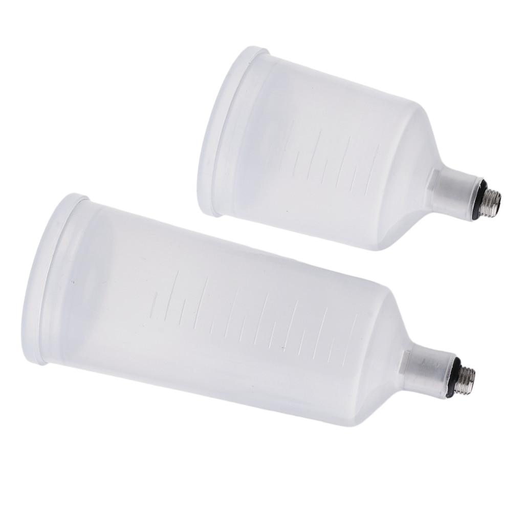 36,8 ml & 20,3 ml aire Gravity Feed Spray Paint Airbrush Cup Pot le permite terminar un patrón más grande sin tener que parar