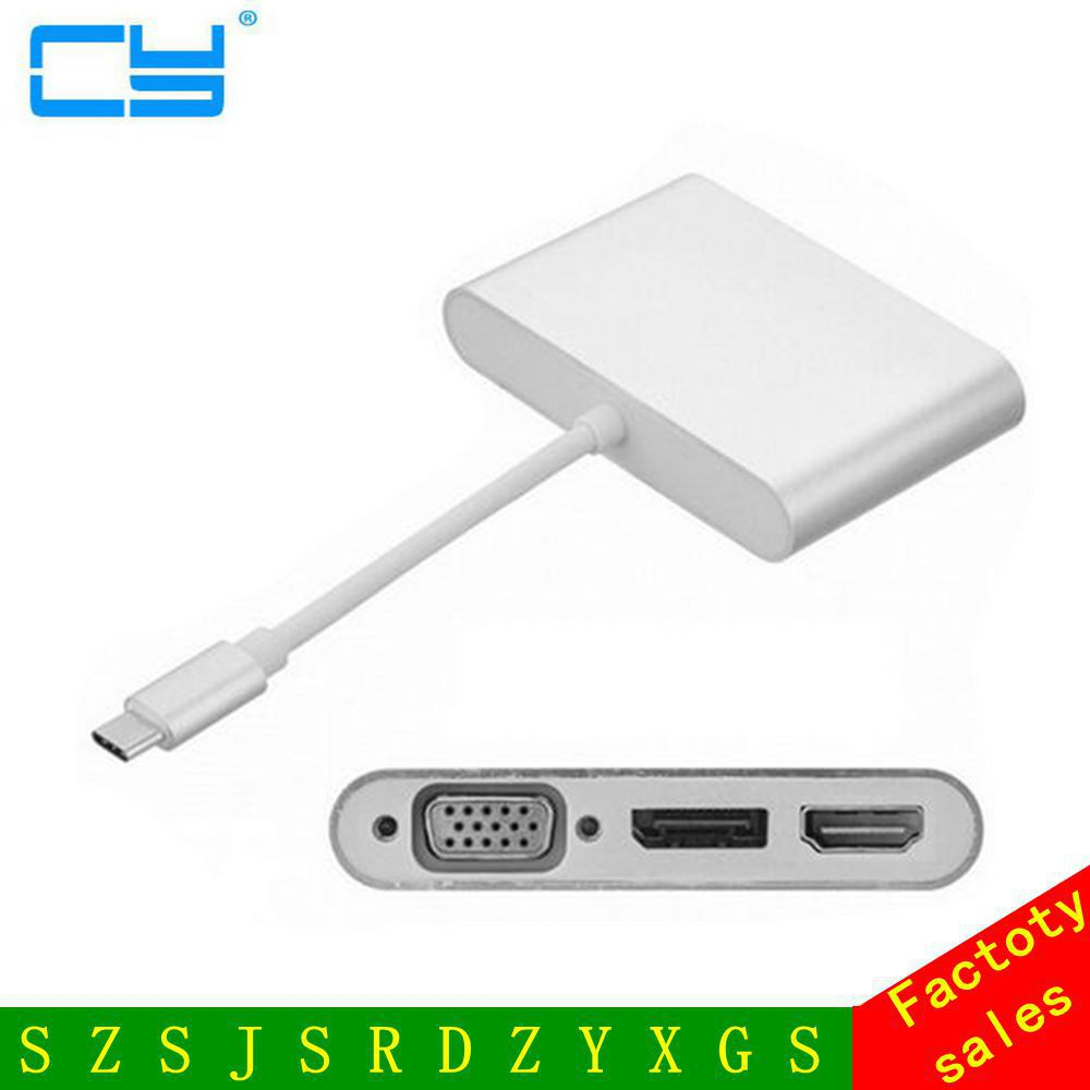 USB-C USB 3.1 Type C to HDMI Digital AV & VGA & DP DisplayPort Combo 3 in 1 Adapter for Laptop & Notebook адаптер usb hp usb c to displayport n9k78aa n9k78aa
