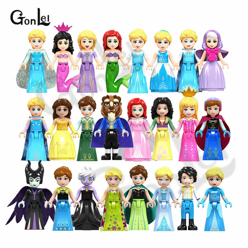 Happy Princess Elsa Anna Ariel Aurora Prince Eric Maleficent Toys For Children