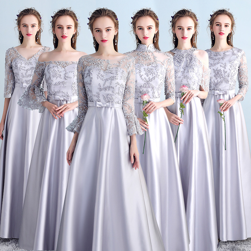 Elegant Women Evening Dress Gown Sexy Slim Improved Chinese Cheongsam Full Length Vintage Qipao Asian Bride Wedding Dresses