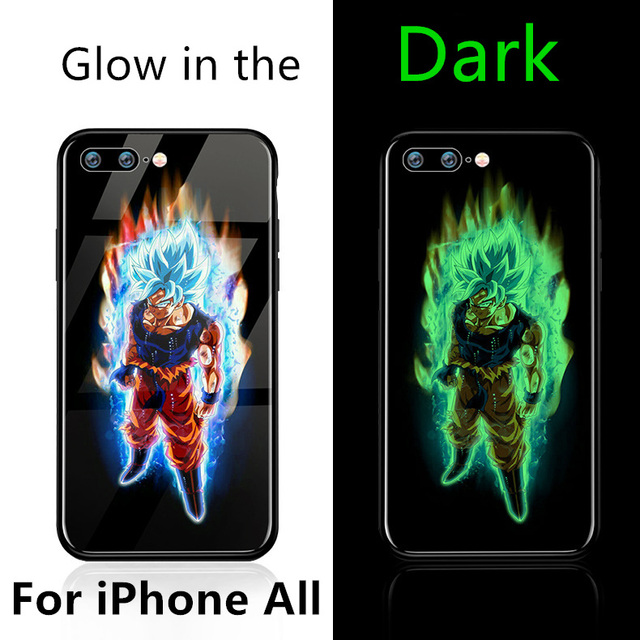 Glow in Dark Dragon Ball Super Son Goku cover Case For iphone Model