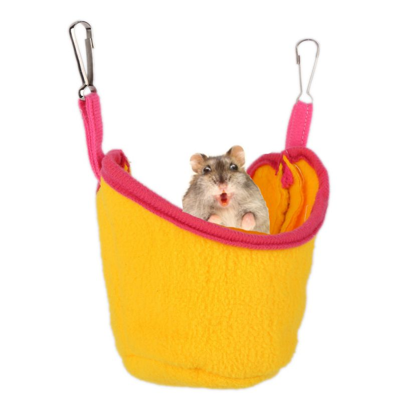 Cute Small Pet Boat Shape Hammock Hanging House Bunk Bed House Warm Guinea Pig Hamster Accessories