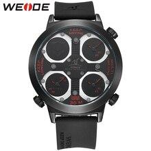 Мода WEIDE Спортивный Бренд Часы мужские Аналоговый 30 М Водостойкой Кварцевые Наручные Часы Открытый Военный Мужчины Повседневная Часы