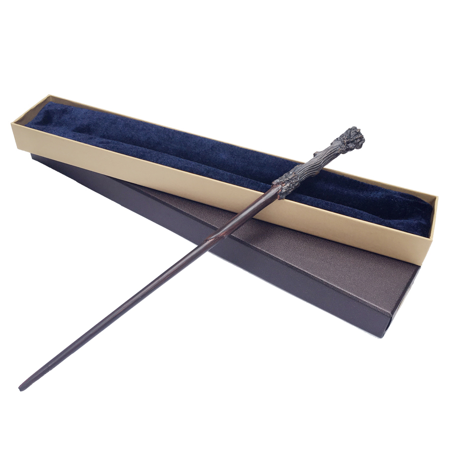 Quality Metal Core Deluxe COS Magic Wand With Box Har Potter Dumbledore Voldemort Hermione Magic Wand Free Train Ticket
