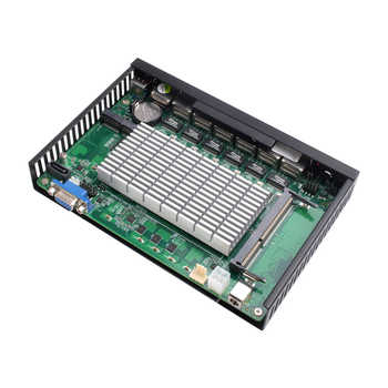 BEBEPC 6*LAN Gigabit Ethernet Mini PC Celeron 1037U Dual Core Mini Computer Industrial PC Router Pfsense Windows Linux