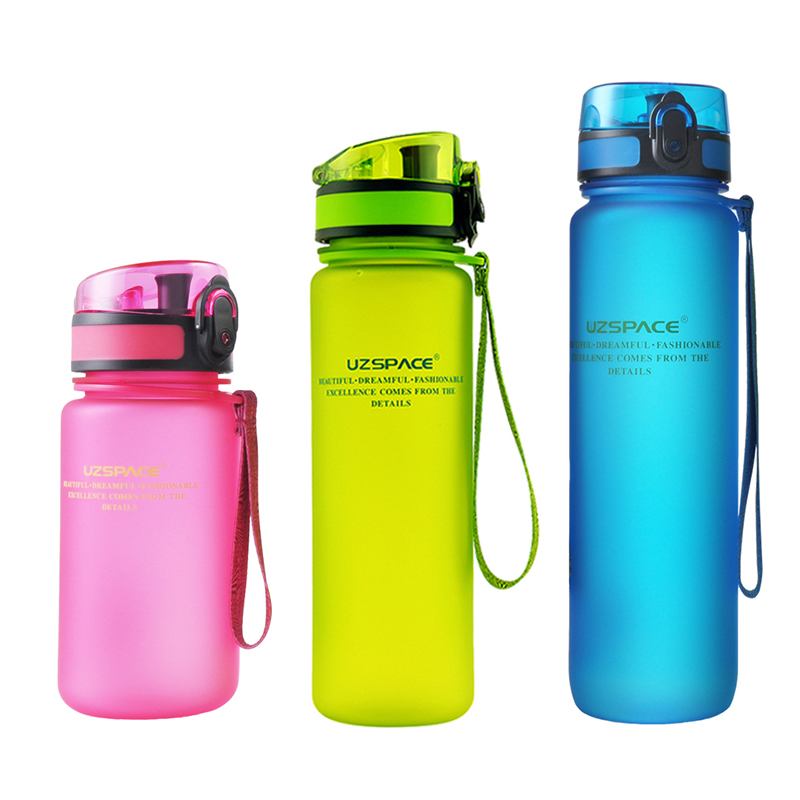 2016 New Real Protein Uzspace Portable Motion <font><b>My</b></font> Tritan Water <font><b>Bottle</b></font> Bpa Free <font><b>Plastic</b></font> <font><b>Cup</b></font> For Sports Camping 350/500/650/1000ml