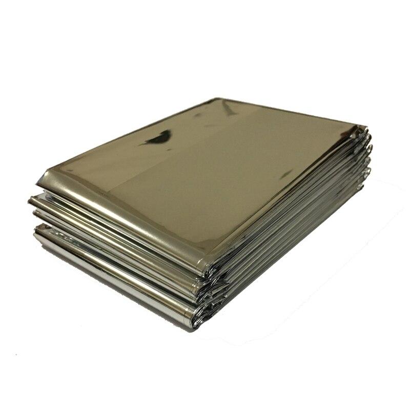210 * 130 CM 1 pieza Escalada de plata Kits de supervivencia al aire libre Equipo de rescate Herramienta de supervivencia de emergencia Caza Manta de emergencia