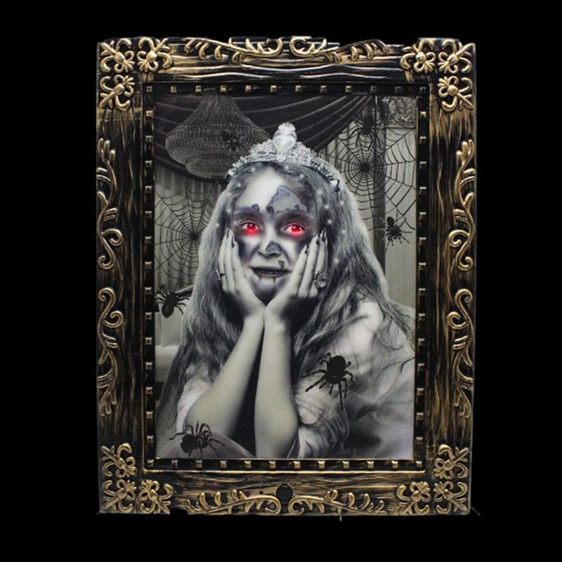 Halloween Horror Akustische Stimme Leucht Mädchen Magie Fotorahmen ...
