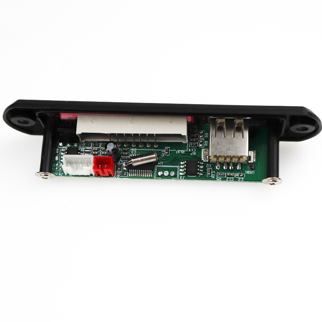 Car WMA MP3 Decoder USB Power Supply DC 5V 12V TF FM Radio Audio Board USB MP3 Player For Car Remote Music Speaker