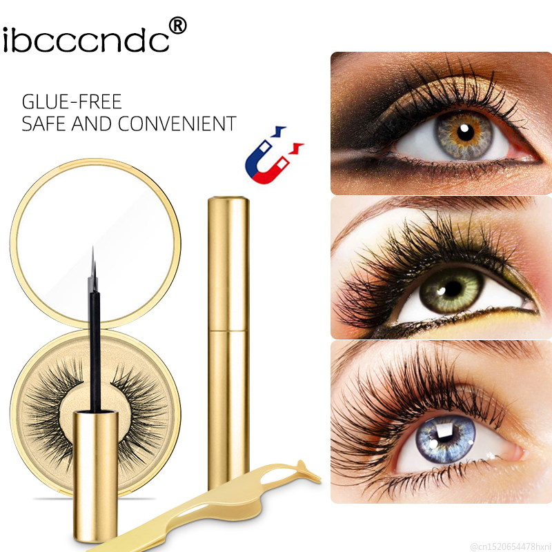 Magnetic Liquid Eyeliner Strong Suction Magnetic Special Waterproof Thick False Eyelash Assistant Eye Liner Makeup Tools Kit