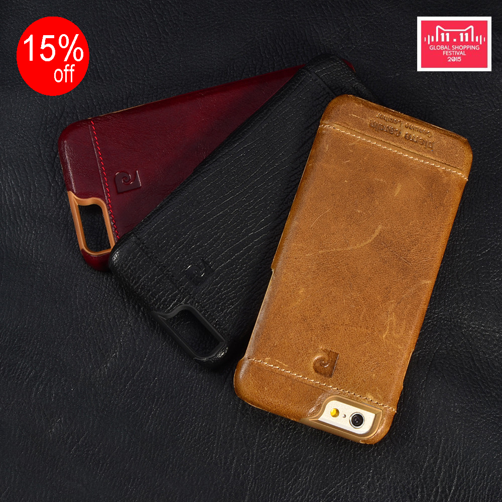 "Pierre Cardin ekte skinn hardt bakdeksel for iPhone X 8/8 pluss 7/7 Plus 6 / 6s 4.7 ""6 / 6s Plus 5.5"" Gratis frakt"