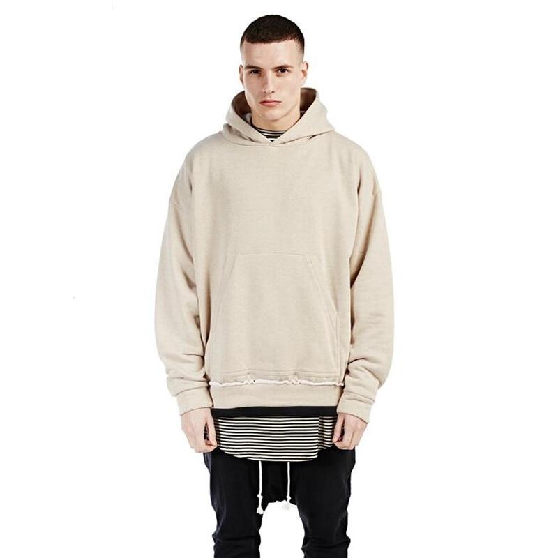streetwear hip hop hoodies with fleece WARM winter mens kanye ...