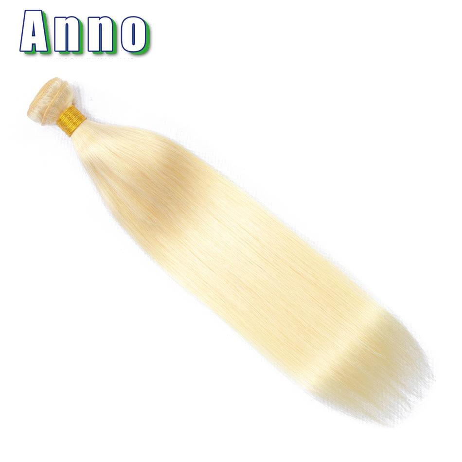 Echthaarverlängerungen Haarverlängerung Und Perücken Annowig 613 Peruanische Haar Bundles Honig Blonde Gerade Haar Spinnt 8-26 Nicht Remy Menschliches Haar Extensions 1 Stück Haar Tressen