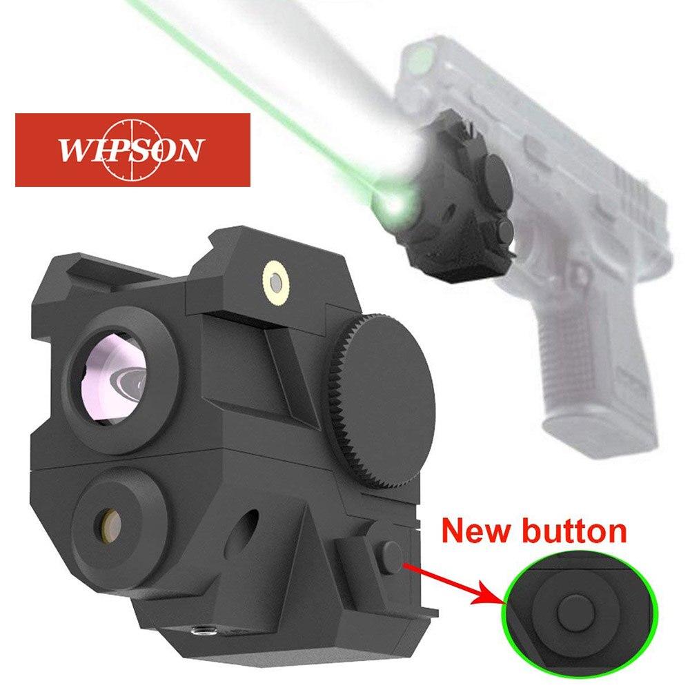 WIPSON Mini Sous Compact Rail Rouge Laser Sight avec Haute Lumen LED lampe de Poche Intégrée Combo avec Strobe pour Pistolet Fusil