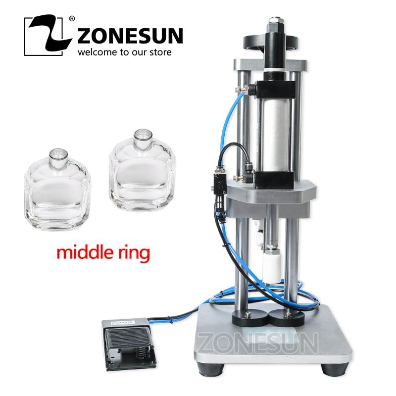 ZONESUN macchina di coperchiamento della bottiglia di vetro del profumo profumo di piegatura della macchina del profumo collare premendo macchina