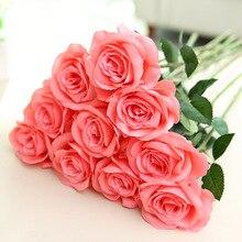 Искусственный цветок розы искусственный цветок Домашнее свадебное украшение инженерный стенд