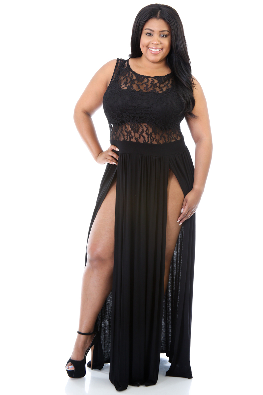 Compare Prices on Black Lace Dress Plus Size- Online Shopping/Buy ...
