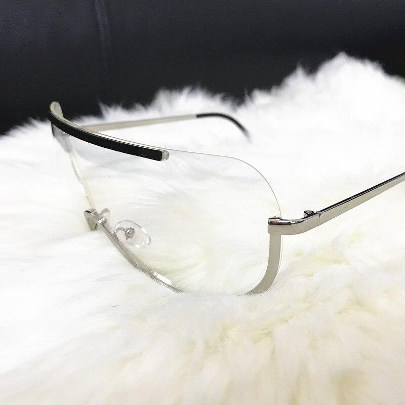 Rimless Gold Clear Sunglasses Men Women Brand Designer Aviator Clear Sunglasses 8