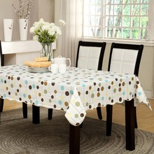 Simple Endless Style Table cloth Waterproof & Oilproof Wipe Clean Vinyl+Flannel Tablecloth Dining Kitchen Cover