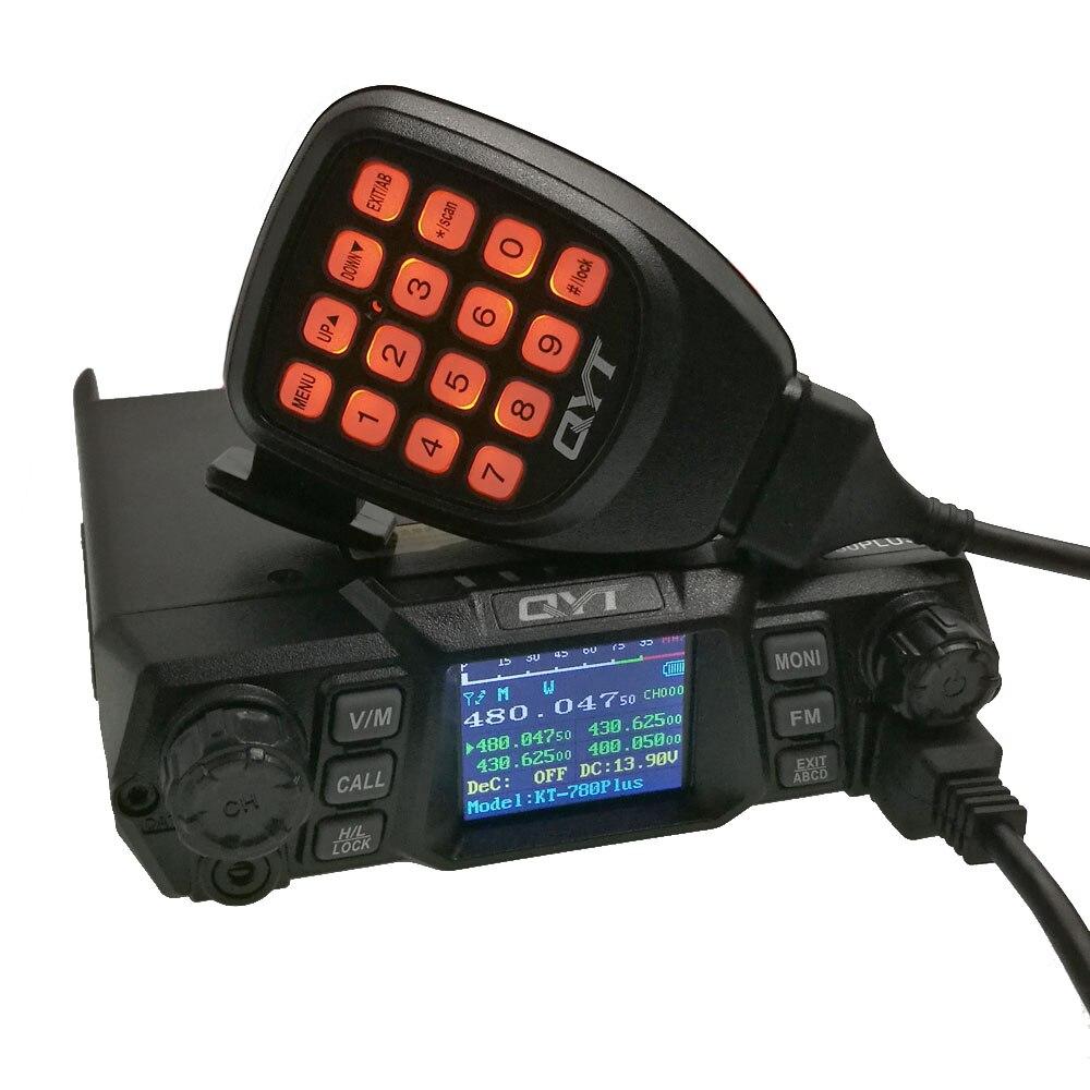 QYT KT-780 Plus Walkie Talkie UHF 400-480mhz 75W KT-780plus Quad Display Car Mobile Radio Station Amateur Radio Communciator