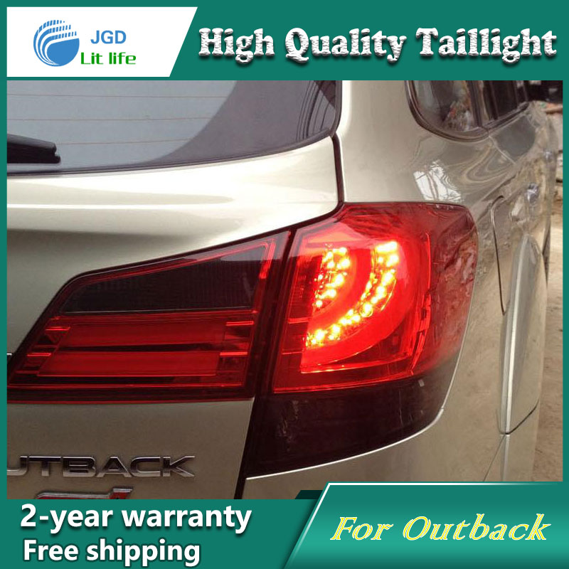 Car Styling Tail Lamp for Subaru Outback 2010-2014 Tail Lights LED Tail Light Rear Lamp LED DRL+Brake+Park+Signal Stop Lamp цены
