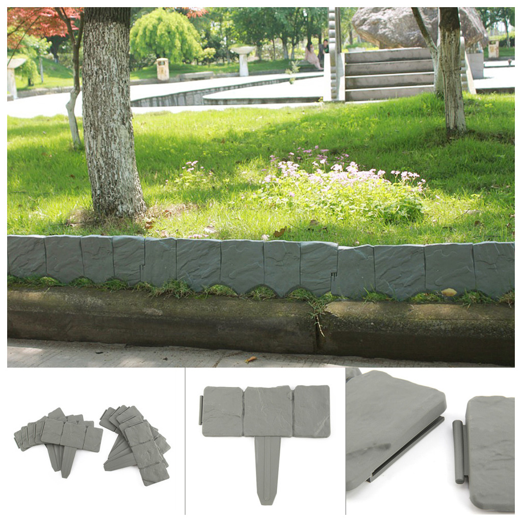 Incroyable 10 Pcs Dark Grey Cobbled Stone Effect Plastic Garden Lawn Edging Plant  Border In Garden Water Connectors From Home U0026 Garden On Aliexpress.com |  Alibaba ...