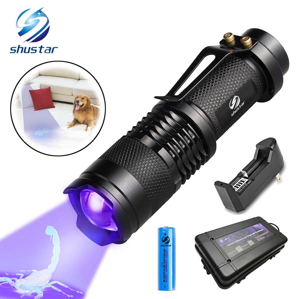 Lights & Lighting Led Flashlights Mini Telescopic Rechargeable Ultraviolet Uv Flashlight 365nm Black Light Uv Torch 395nm Use 14500 Or Aa Batttery