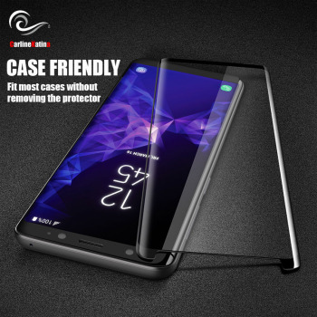 Case Friendly Screen Protector Tempered Glass For Samsung galaxy S10 E S8 S9 Plus Note 9 8 S6 S7 Edge Film 3D 5D 6D 9D Cover image