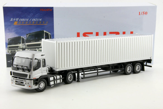 Original 1:50 Container Container Truck Model Model of Alloy Semitrailer Tow Truck Collection model