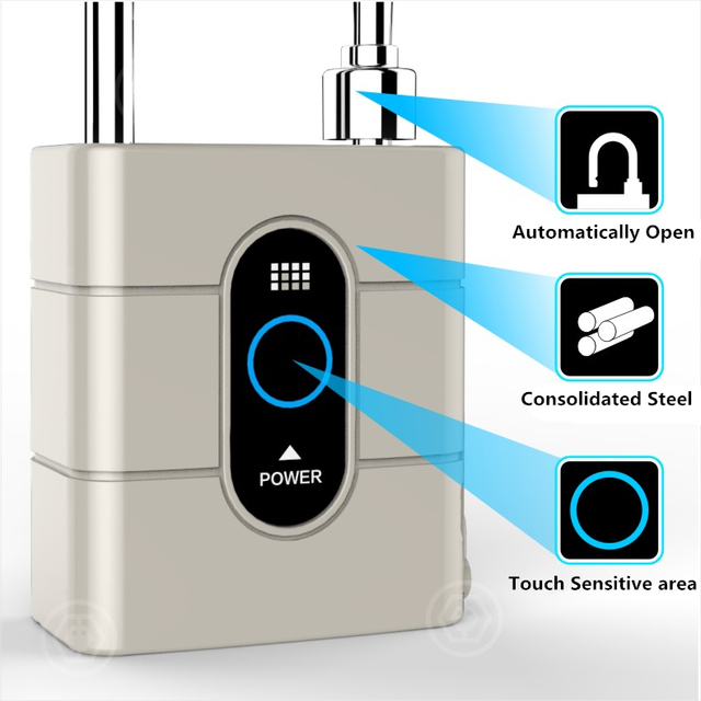 Newest Wireless Control Mini Padlocks Smart Bluetooth Padlock Anti-Theft Alarm Door Lock for IOS Android APP Control 1