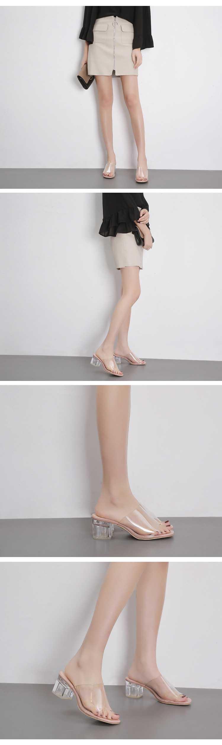 HTB1XtGvf9BYBeNjy0Feq6znmFXaE Eilyken 2019 Summer Gladiator Sandals Women Leisure Crystal Square heel slippers Fashion Women's Sandals Slides shoes