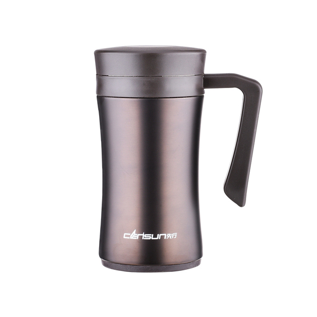 Quality  Thermal cup vacuum Insulation Mug for Cofee with filter with handle men termos  insulated tumbler
