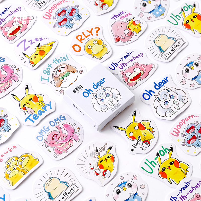 45pcs /lot Cute Japanese Cartoon Animal Paper Sticker DIY Diary Decoration Sticker Planner Album Scrapbooking Kawaii Stationery
