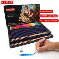 Премиум Мягкая Core акварельный карандаш 12 24 36 48 72 150 Ляпис de cor Профессиональные воды растворимые цветные карандаши для товары для рукоделия