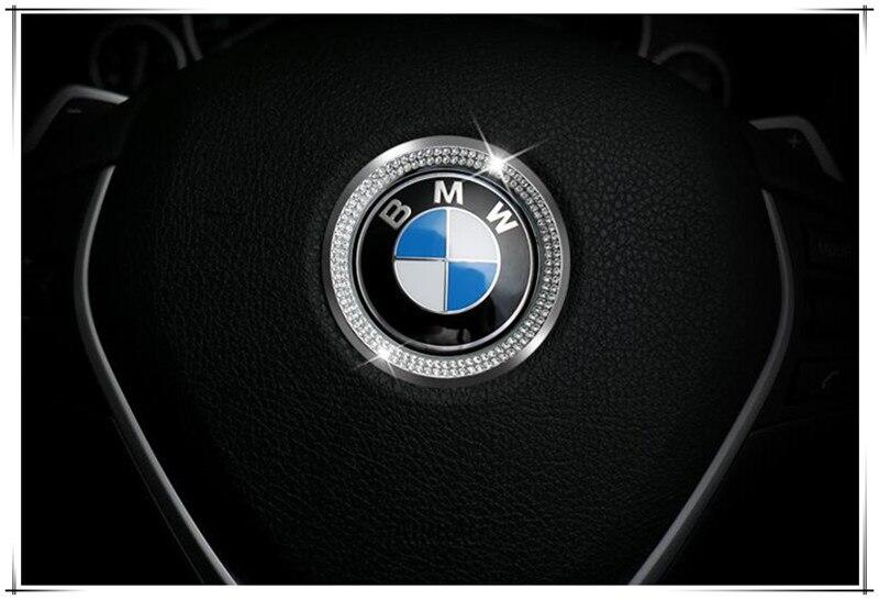 BMW 1 3 4 5 7 Series Car Steering Wheel Center Decoration Diamond Ring Cover