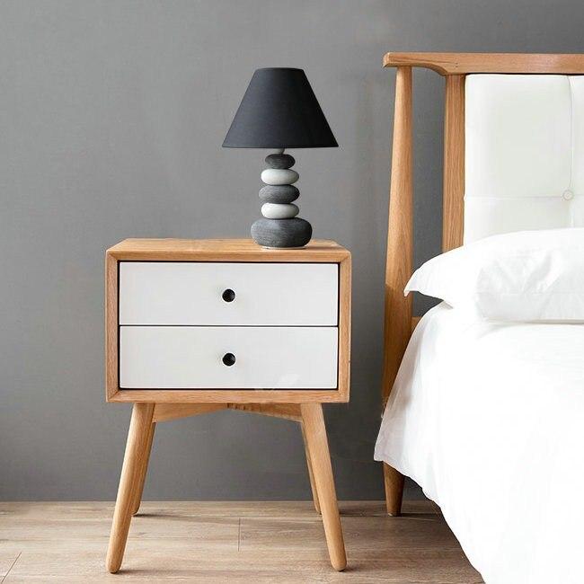 The ceramic lamp bedroom bedside creative simple modern fashion lovely warm warm light bedside lamp Table Lamps ZA meja kecil untuk kamar