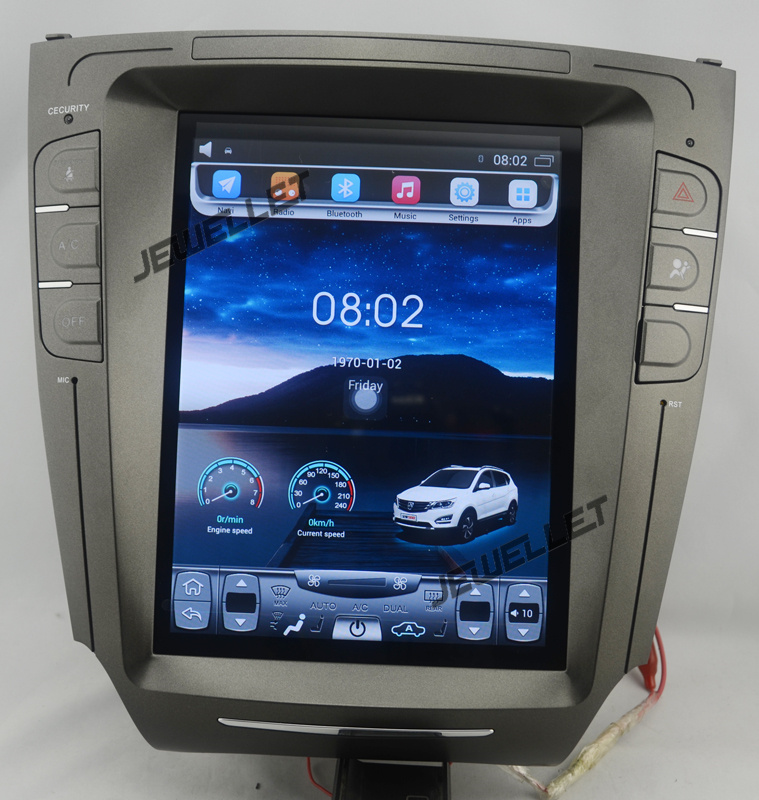 Car GPS Video-Navigation Vertical-Screen Tesla-Style IS200 Android-6.0 IS350 Lexus