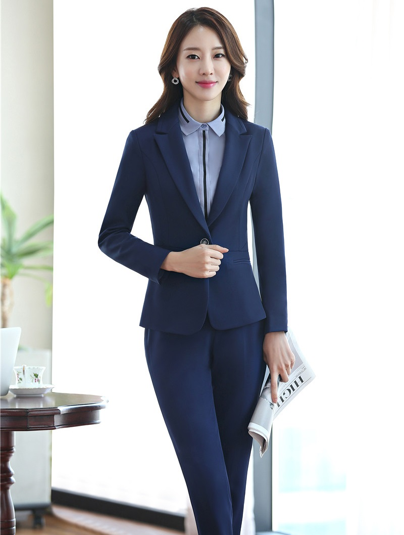 formal office uniform designs women business suits with pant and