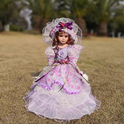 Hauteur 30 cm poupée en porcelaine de russie Style européen poupée en porcelaine jouets en céramique de qualité supérieure cadeau d'anniversaire fille cadeaux