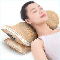 Heating Vibrating Massager For Neck Neck And Waist Traction Shoulder Back Massage Pillow Shiatsu Pinch Knead Roll Neck Massager