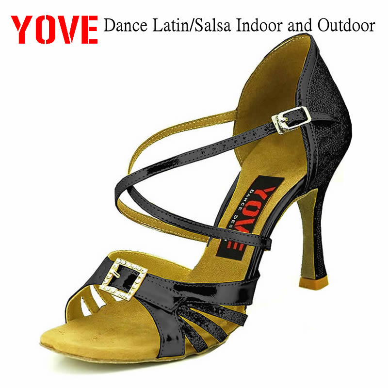 YOVE Style LD-1010 Dance shoes Bachata/Salsa Indoor and Outdoor Womens Dance ShoesYOVE Style LD-1010 Dance shoes Bachata/Salsa Indoor and Outdoor Womens Dance Shoes